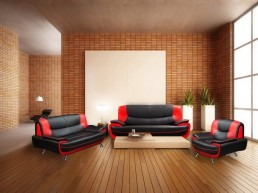 Carol PU leather sofa set