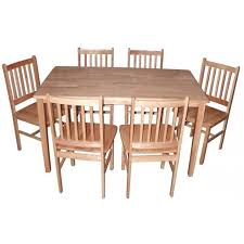Malay Table and 6 chairs